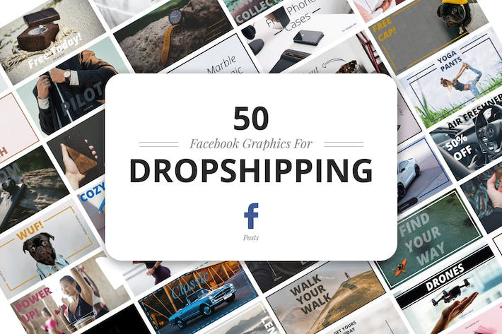 Thumbnail for 50 Facebook Dropshipping Graphics