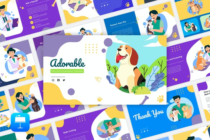 Thumbnail for Adorable - Pets Care Keynote Template