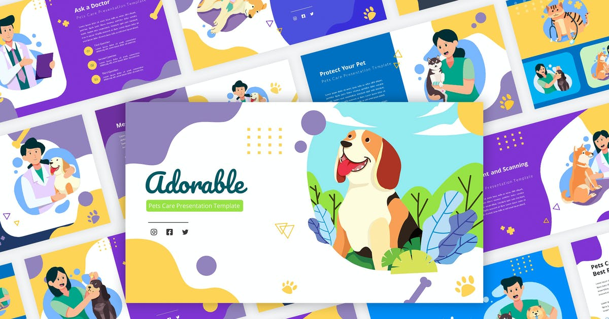 Download Adorable - Pets Care Keynote Template by Graphiqa