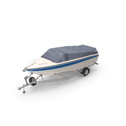 Motorboot auf Trailer