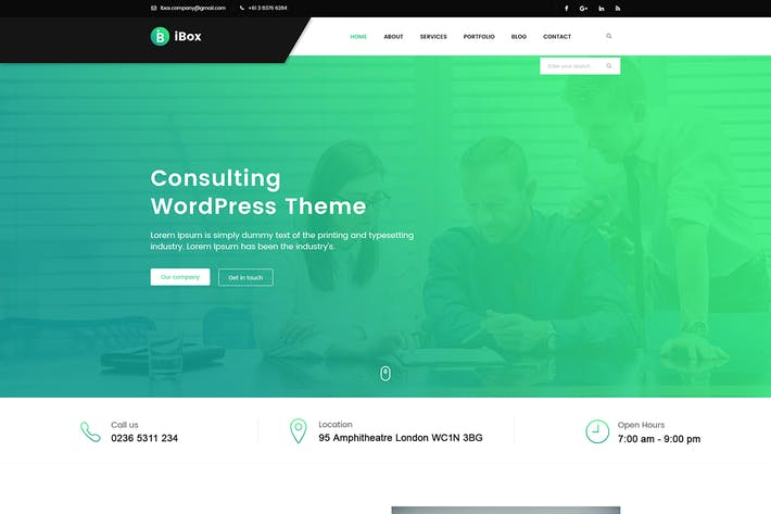 Thumbnail for Ibox - Corporate Business PSD Template