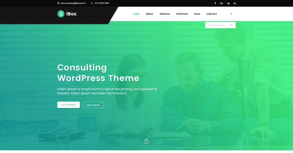 Download Ibox - Corporate Business PSD Template by Unknow