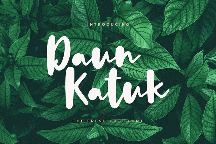 Thumbnail for Daun Katuk - The Fresh Cute Font