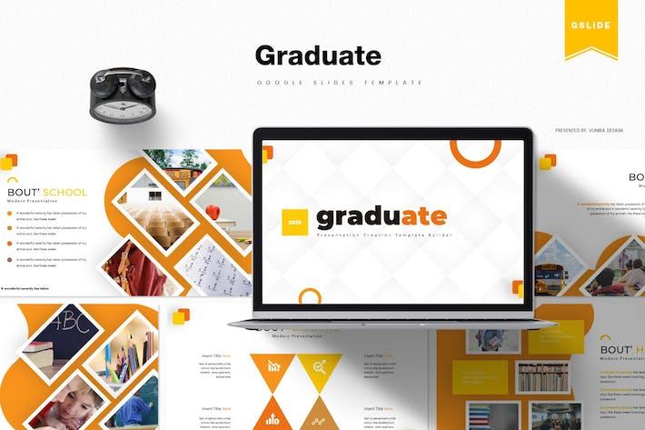 Thumbnail for Graduate | Google Slides Template