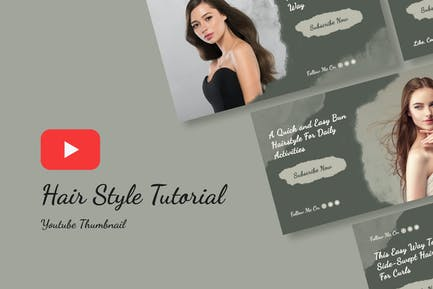 Hair Style Youtube Thumbnail