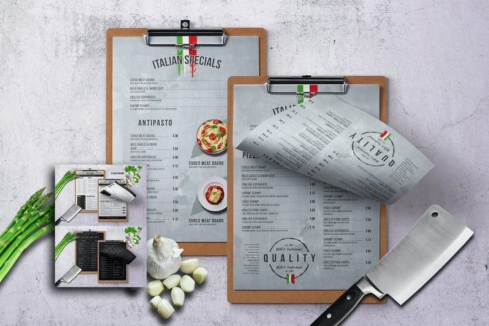Thumbnail for Minimal Single Page Food Menu Bundle