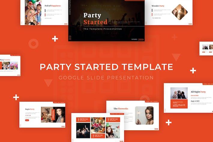 Начата вечеринка - Шаблон слайдов Google