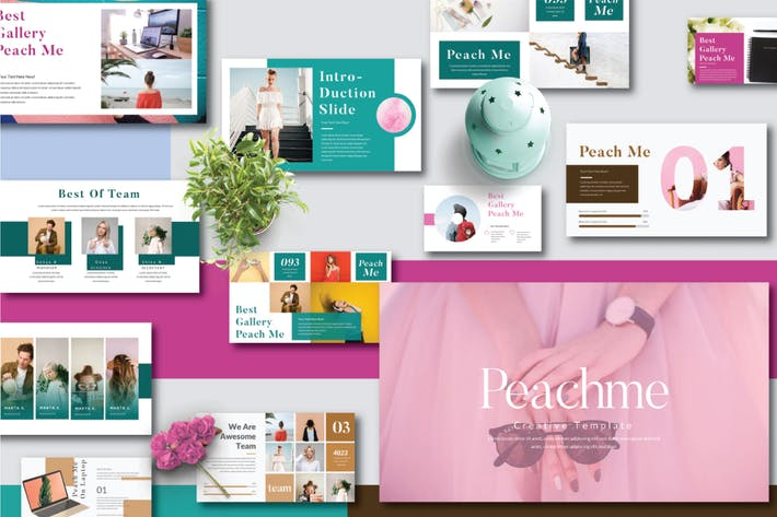 Thumbnail for Peachme Creative Powerpoint Template