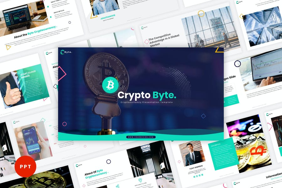 Byte - Cryptocurrency PowerPoint Template