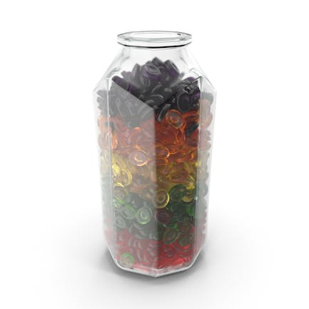 Octagon Jar With Oval Hard Candy