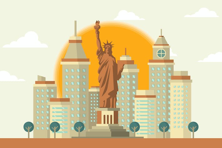 Thumbnail for Statue of Liberty USA - Building Illustration