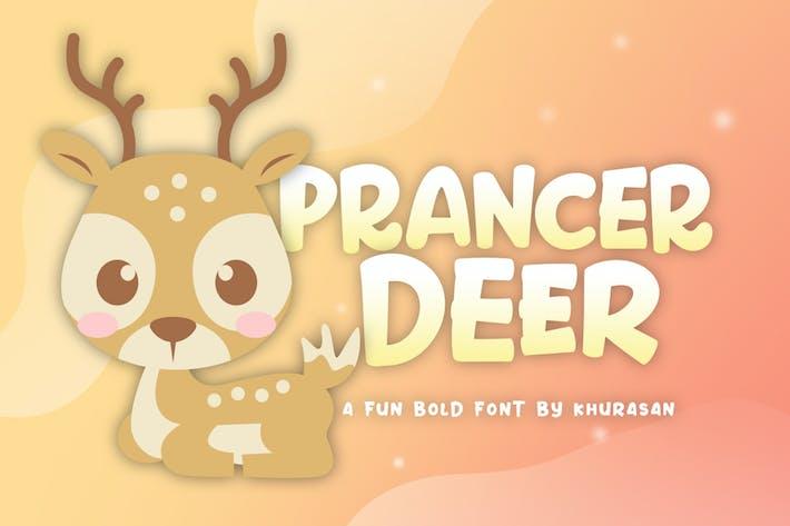 Thumbnail for Prancer Deer Font