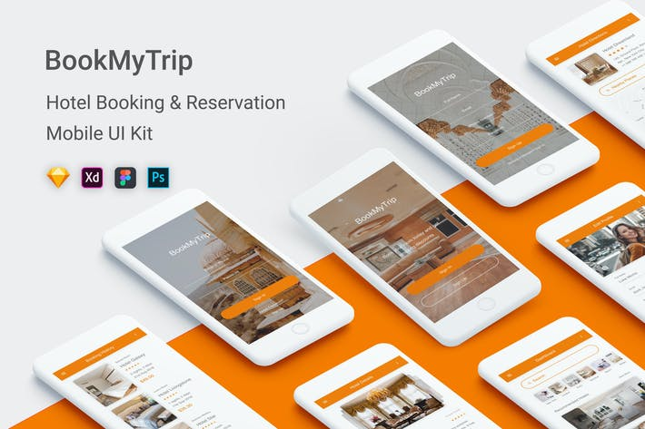 Thumbnail for BookMyTrip - Hotel Booking UI Kit