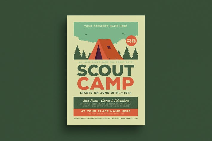 Thumbnail for Scout Camp Event Flyer