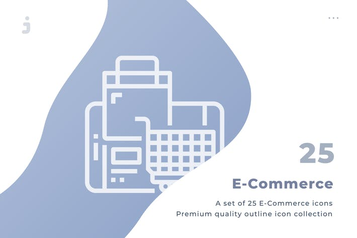 Thumbnail for 25 E-Commerce Icons