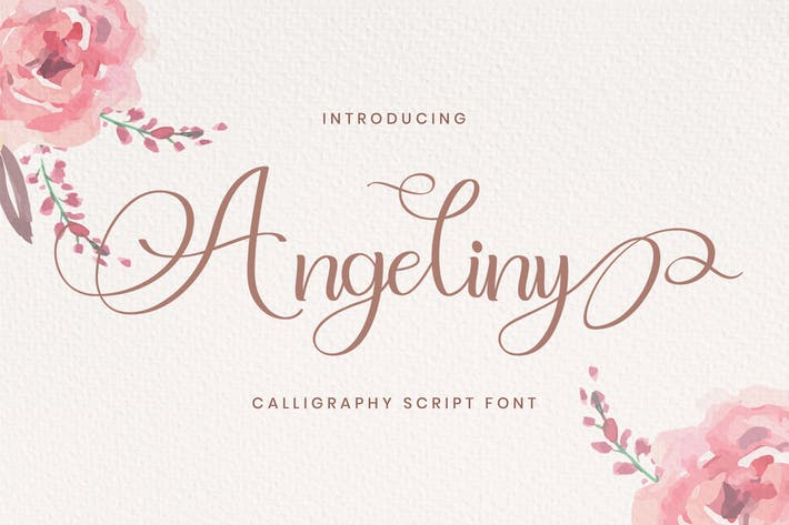 Thumbnail for Angeliny - Calligraphy Font