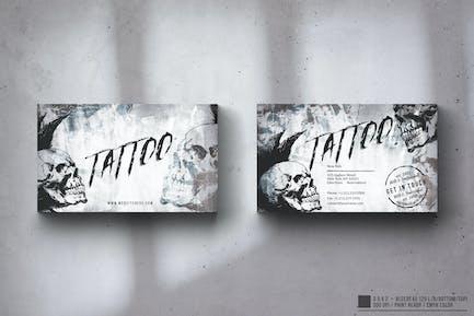 Tattoo Grunge Business Card Design