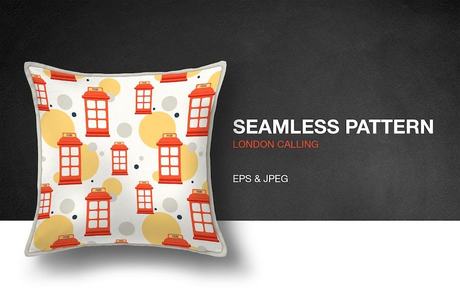 London Calling Seamless Pattern