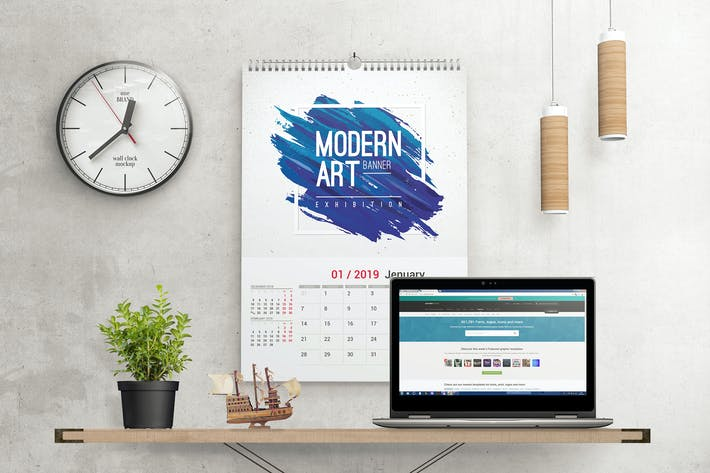 Thumbnail for Wall Calendar Mockups