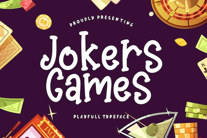 Thumbnail for Jokers Games Child Play Typeface