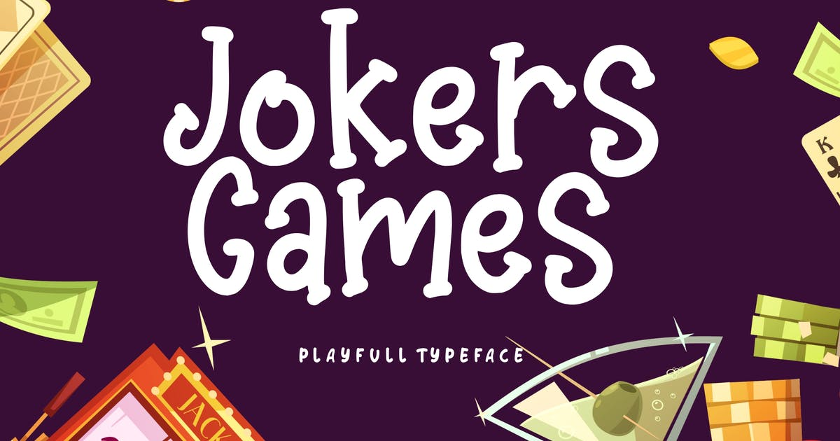 Download Jokers Games Child Play Typeface by RahardiCreative
