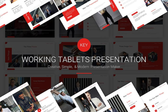 Thumbnail for Working Tablets - Keynote Template