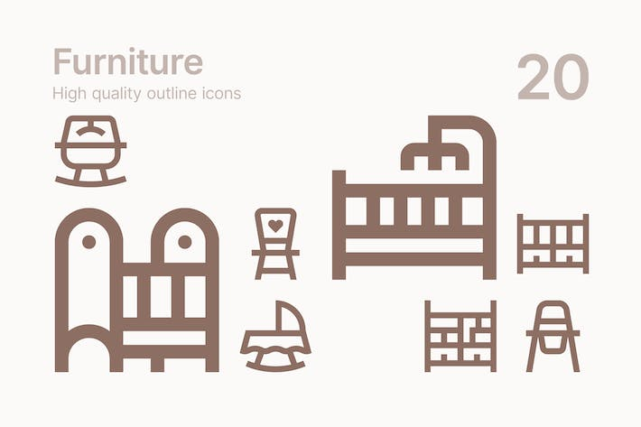 Thumbnail for Baby Furniture Icons