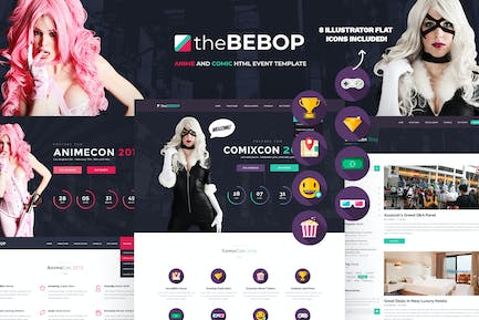 The Bebop Anime and Comic HTML Events & Convention
