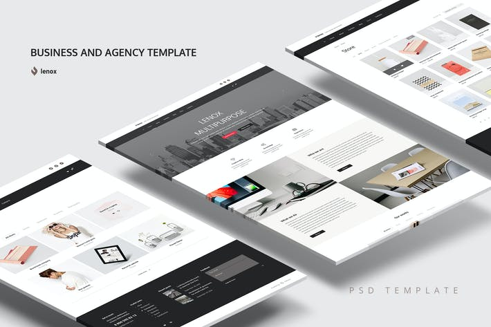 Thumbnail for Business and Agency PSD Template