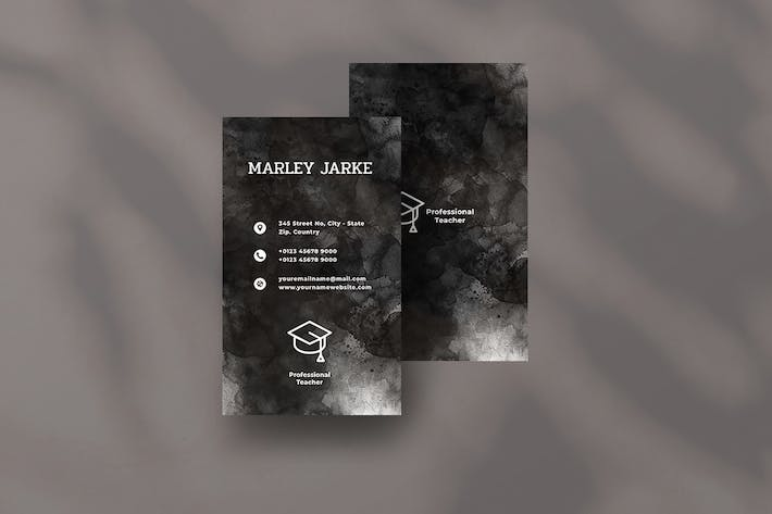 Thumbnail for Vertical Black Business Card. 22