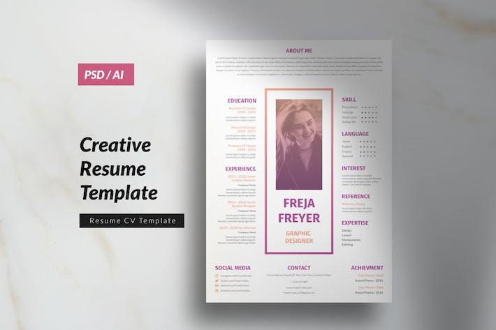 Thumbnail for Multipurpose Marketing Design CV Resume Vol. 10