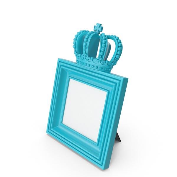 Barock Bilderrahmen Blau Grün