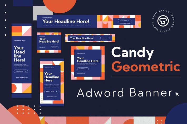 Thumbnail for Candy Geometric Adword Banner