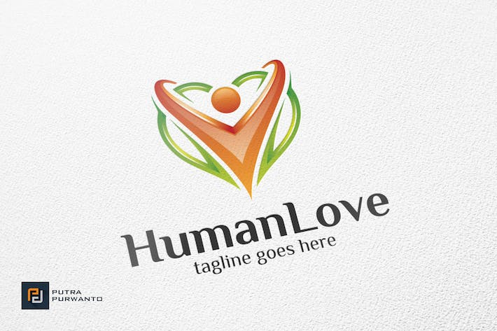 Cover Image For Human Love / Heart - Logo Template