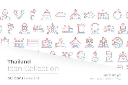 Thailand Gradient Icon