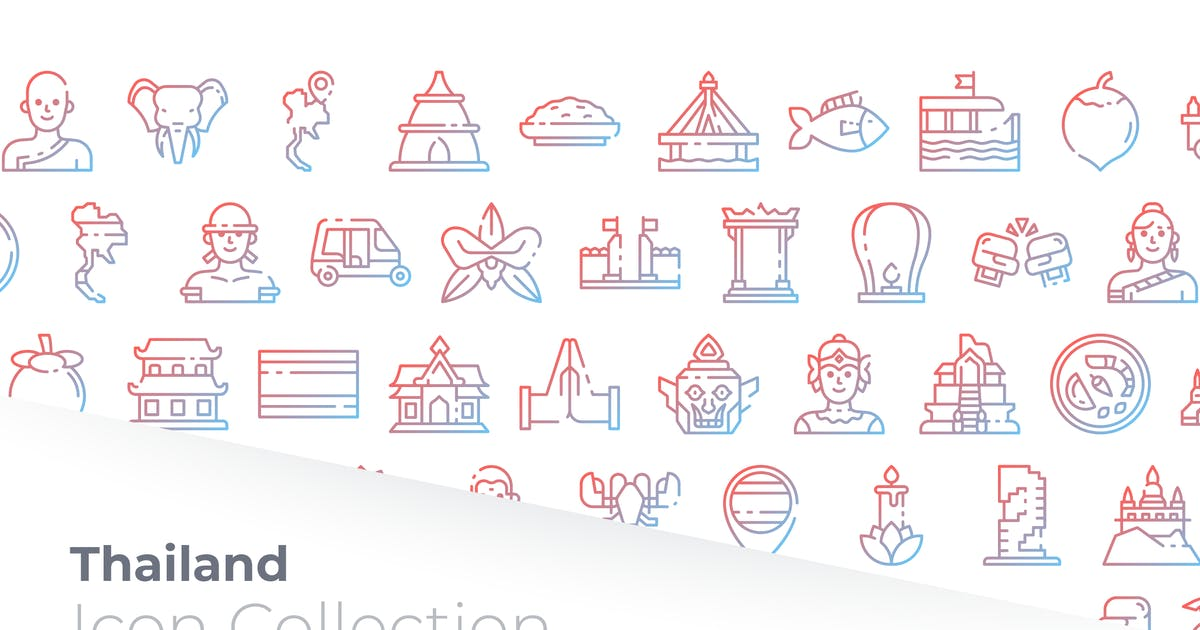 Download Thailand Gradient Icon by GoodWare_Std