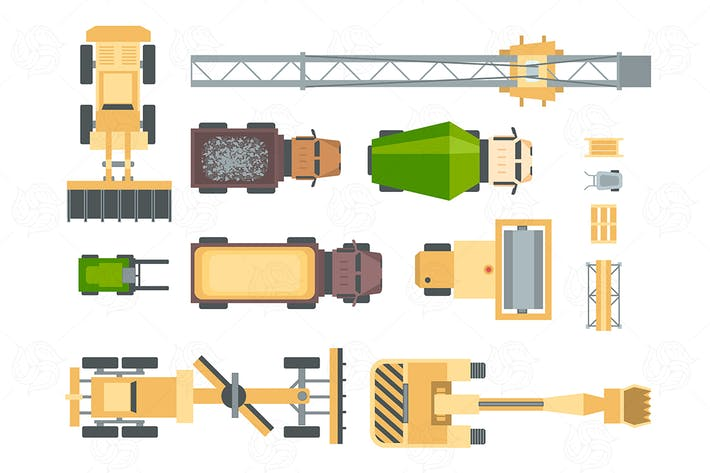 Thumbnail for Construction machines - set of vector elements
