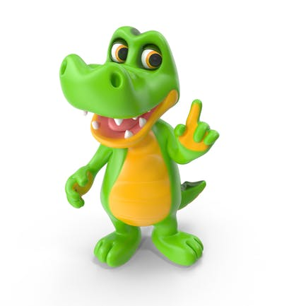 Karikatur-Krokodil
