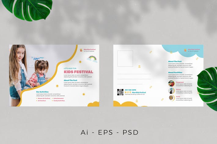 Thumbnail for Carte postale Kids Fest