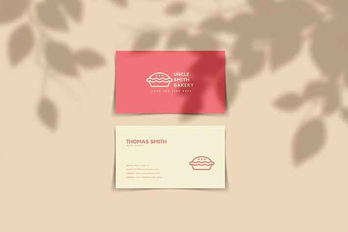 Minimal Bakery Business Card Template