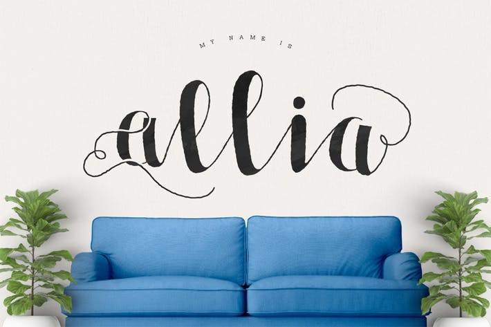 Thumbnail for Allia Typeface