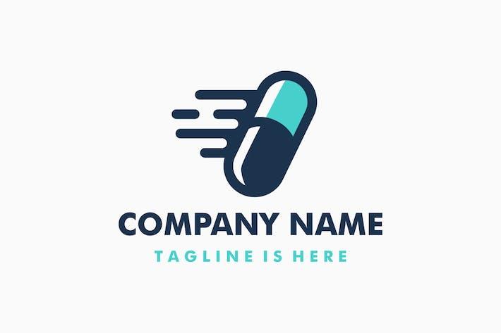 Capsule Medicine Delivery Logo