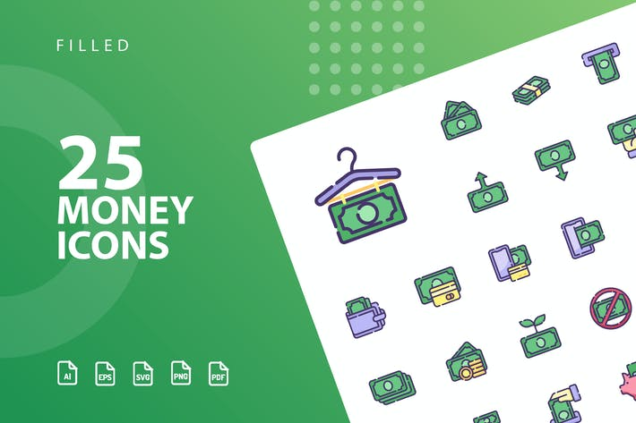 Thumbnail for Money Filled Icons