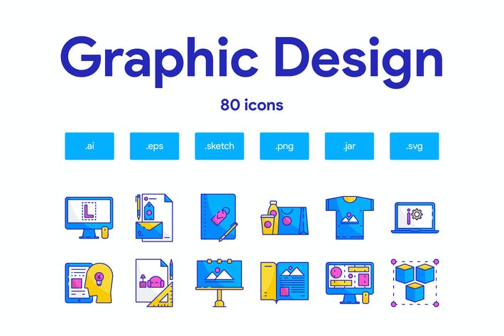 Thumbnail for Graphic Design Icon Set
