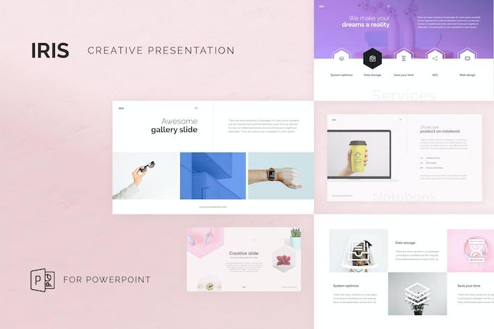 Thumbnail for Творческий Шаблон PowerPoint IRIS