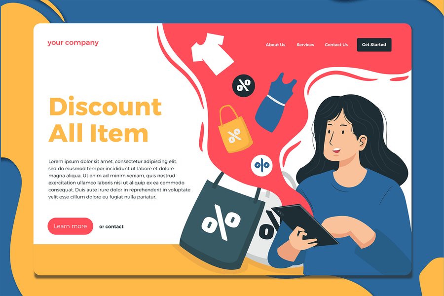 On Sale - Landing Page