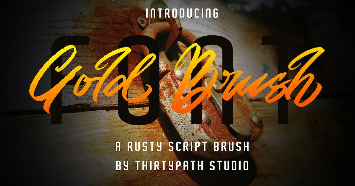 Download Gold Brush Font by thirtypath