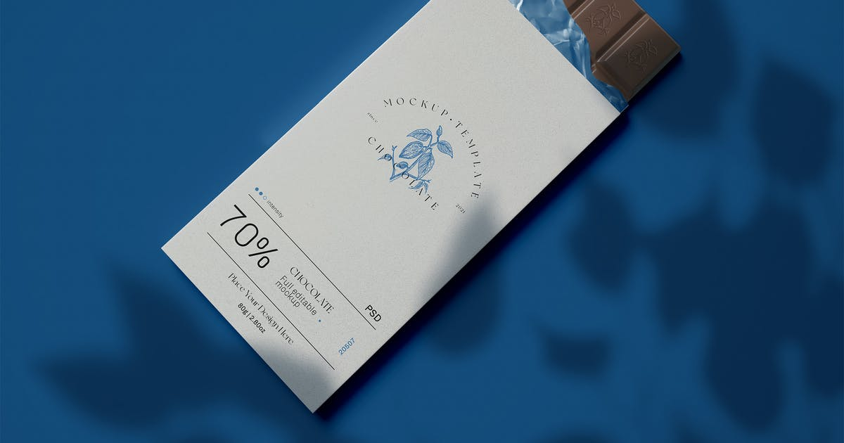 Download Wrapped Chocolate Mockup by megostudio