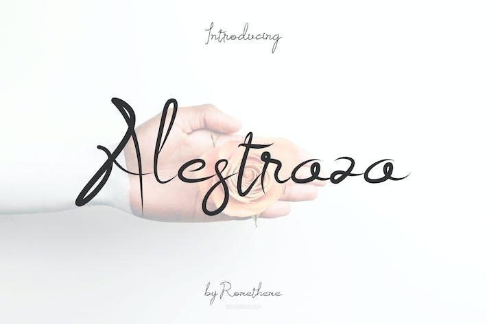 Thumbnail for Alestraza Font