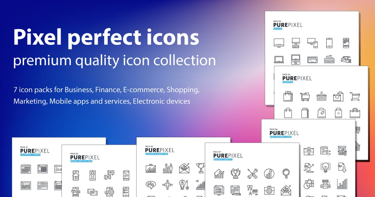 Download Pure Pixel Icons by PureSolution
